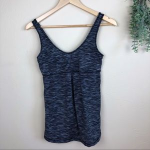 Lucy | Heathered Gray V-Neck Tank Top